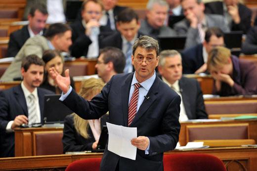 Cséfalvay Zoltán a Parlamentben (fotó: MTI)