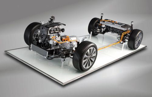 Az Audi A6-os hibrid hajtásláncca