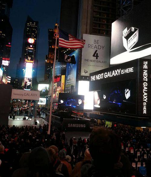 A Galaxy S 4 premierje a Times Square-en New Yorkban