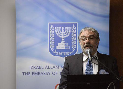 Korányi László, a Nemzeti Innovációs Hivatal elnöke az I. Izraeli-magyar innovációs napon (fotó: MTI)
