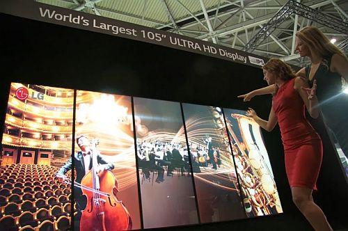 Az LG 105 hüvelykes ultra HD digitális képernyője (fotó: LG)