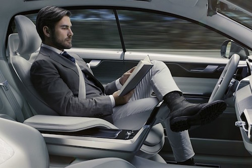 Volvo Concept 26 onvezeto auto self-driving car