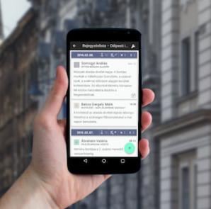 E-építési napló mobilra (fotó: lechnerkozpont.hu)