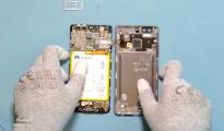 Huawei P9 szétszerelés (fotó: video - Huawei)