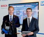 Volkmar Denner, a Bosch igazgatótanácsának elnöke és Bernd Leukert, az SAP igazgatótanácsának tagja (fotó: Bosch)