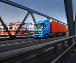 LKW konténer Hamburger, Bosch mobilitás (fotó: Bosch)